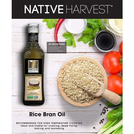 Native Harvest - Non GMO Rice Bran Oil 476ml (16 oz)