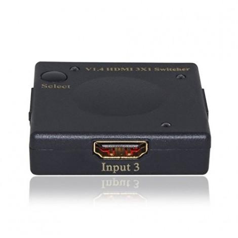 C&E® HDMI Intelligent Mini Switch 3X1 v1.4 Supports, 3D 4Kx2K, CNE545448