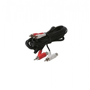 C&E® CNE430084 12-Feet 2-RCA to 2-RCA Piggyback Audio Patch Cord