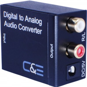 Analog R/L to Digital Coax/ Toslink Audio Converter