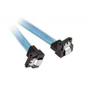 C&E® SATA III 6Gbps Cable with Locking Latch, UV Blueangled-Angled 18