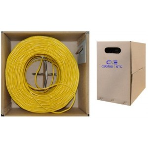 C&E® 1000 feet 23 AWG CAT6, 550-MHz Stranded Bulk Cable, 4-Pair, PVC, Yellow