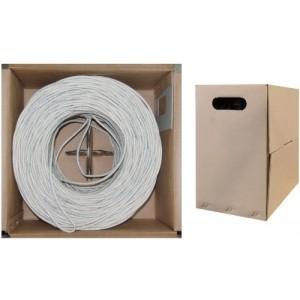 C&E® 1000- feet 23AWG CAT6, 550-MHz Stranded Bulk Cable, 4-Pair, PVC White