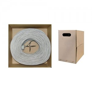 1000 feet CAT 6E 23AWG 4PR Solid STP Ethernet Cable White