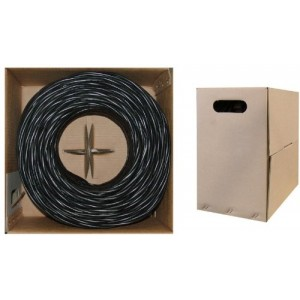 C&E® 1000 feet CAT5E 24AWG 4PR Stranded Ethernet Cable Black