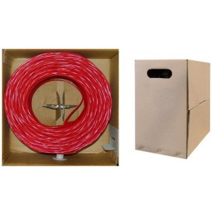 C&E® 1000- feet 23AWG CAT6, 550-MHz Solid Bulk Cable, 4-Pair, PVC,Red