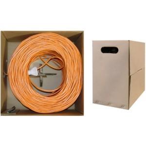 C&E® 1000 feet 23 AWGCAT6, 550-MHz Solid Bulk Cable, 4-Pair, PVC, Orange