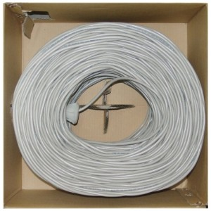 C&E® Bulk Shielded Cat5e 1000-Foot Gray Ethernet Cable, Stranded, Pullbox