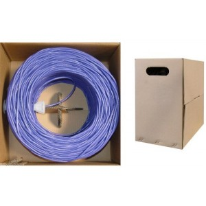 C&E® 1000- feet 23 AWG CAT6, 550-MHz Solid Bulk Cable, 4-Pair, PVC,Purple