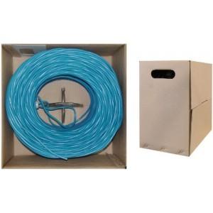 C&E® 1000 feet CAT6, 550-MHz Stranded Bulk Cable, 4-Pair, PVC, 23 AWG, Blue