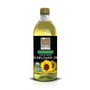 Native Harvest Organic Non-GMO Naturally Expeller Pressed Sunflower Oil, 1 Litre (33.8 FL OZ)