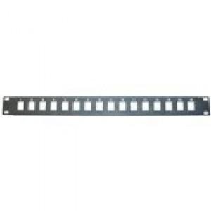19-INCH X 1U BLANK KEYSTONE PATCH PANEL WITH 16-PORT