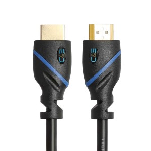 C&E® 1.5ft (0.4M) High Speed HDMI Cable Male to Male with Ethernet Black (1.5 Feet/0.4 Meters) Supports 4K 30Hz, 3D, 1080p and Audio Return