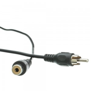 RCA Audio/Video Extension Cable, RCA Male to RCA Female, 12 Foot