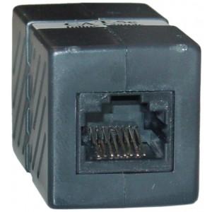 CableWholesale CAT5E (RJ45) Female / Female Inline Unshielded Coupler, Black (30X6-02400BK)