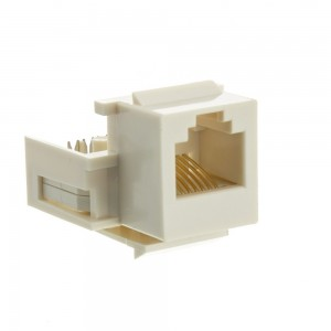 CableWholesale RJ11 / RJ12 Toolless Keystone Jack, White (331-120WH)