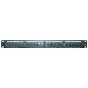 CAT-5 E Patch Panel, Horizontal, 110 Type, 24 Port, 19-Inch Rackmount (68PP-03024)