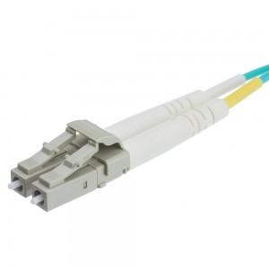 10 Gigabit Aqua OM4 Fiber Optic Cable, LC/LC, Multimode, Duplex, 50/125, 15 Meter (49.2 Foot)