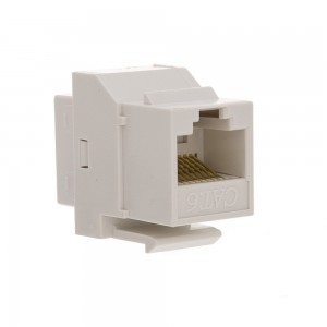 CableWholesale Cat6 RJ45 Inline Keystone Coupler, White Color (326-220WH)