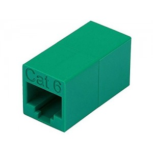 Monoprice 105089 Cat6 Crossover Inline Coupler, Green