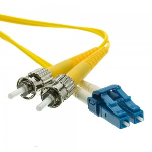 Fiber Optic Cable, LC/ST, Singlemode, Duplex, 9/125, 3 Meter (10 Foot)