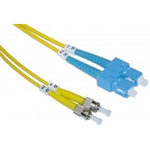 SC / ST, Single Mode, Duplex Fiber Optic Cable, 9/125, 3 Meter (10 ft)