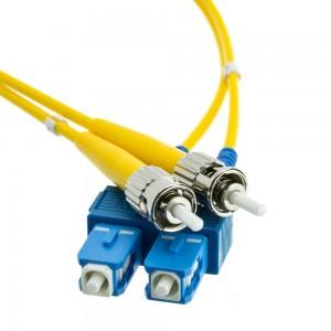 Fiber Optic Cable, SC/ST, Singlemode, Duplex, 9/125, 1 Meter (3.3 Foot)