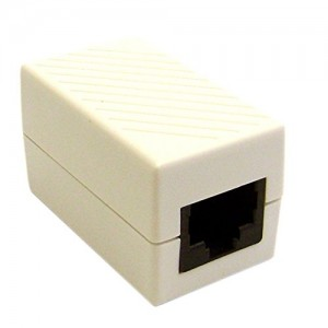 CableWholesale Cat6 Female/Female Inline Unshielded Coupler, White (30X8-02400WH)