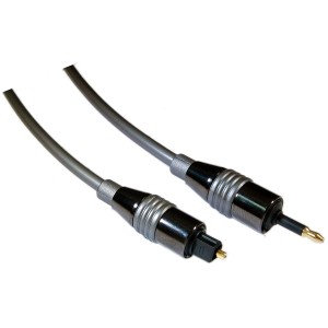 6 ft Digital Fiber Optic Audio Toslink to 3.5mm Optical Cable - 5.0mm