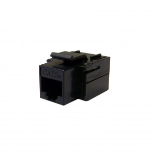 CableWholesale CAT5E, RJ12 Inline Keystone Coupler, Black (310-220BK)