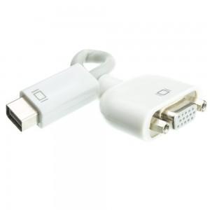 Mini-DVI to VGA Adapter Cable, Mini-DVI Male to HD15 Female, 6 inch