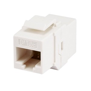 Monoprice Cat5e Inline Coupler Type Keystone Jack, White (107302)