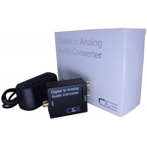 C&E® Digital Optical Coax to Analog R/L audio converter