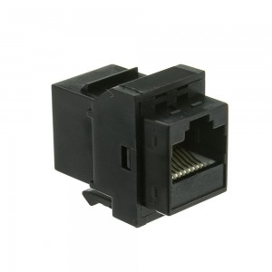 CableWholesale Cat6 Inline Keystone Coupler, RJ45 Adapter, Black (326-220BK)
