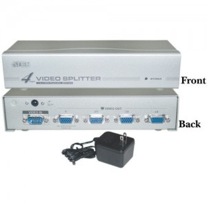VGA Splitter 1 PC to 4 Monitors 250MHz