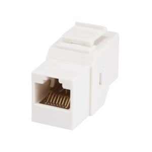 Monoprice Cat6 Inline Coupler Type Keystone Jack, White (107303)