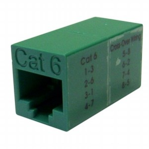 Cable Wholesale Cat6 Crossover Utp Inline Coupler, Green (30x8-33500)
