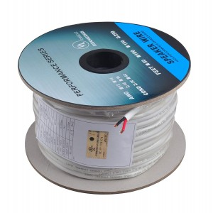 C&E® 250 Feet 16AWG CL2 Rated 2-Conductor Loud Speaker Cable (For In-Wall Installation)