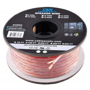 C&E® 100 Feet 14AWG Enhanced Loud Oxygen-Free Copper Speaker Wire Cable, CNE62761