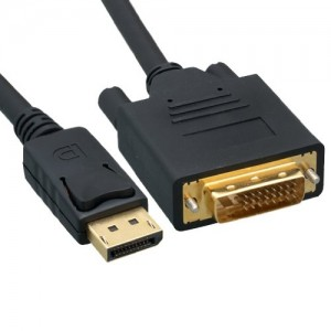 DisplayPort to DVI Video Cable, DisplayPort Male to DVI Male, 10 Foot