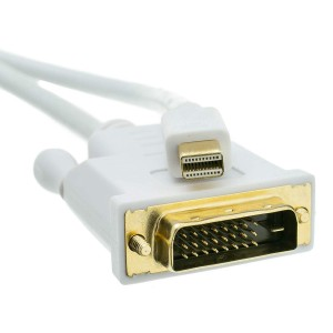 Mini DisplayPort to DVI Video Cable, Mini DisplayPort Male to DVI Male, 6 Foot
