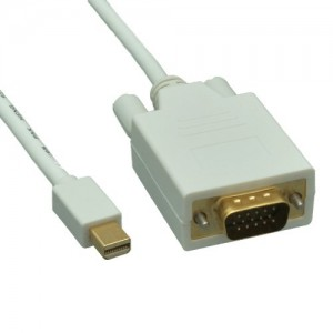 Mini DisplayPort to VGA Video Cable, Mini DisplayPort Male to VGA Male, 15 Foot