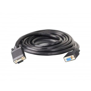 C&E® 25 Feet, VGA male to female Extension Cable with Ferrites Black, CNE62164