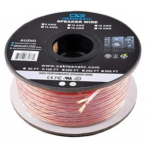 C&E® 100 Feet 12AWG Enhanced Loud Oxygen-Free Copper Speaker Wire Cable, CNE62270