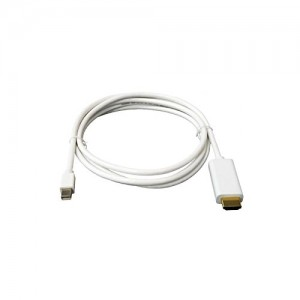 C&E® 10 feet, Gold Plated Premium Mini Display port to HDMI Male to Male White, CNE63034