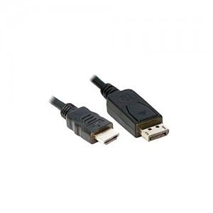 Premium DisplayPort to HDMI Cable 6 Feet Black, CNE63188