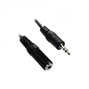 C&E® 3.5mm Male to Female Cables, Nickel Plated Connector 25 Feet Black, CNE63072