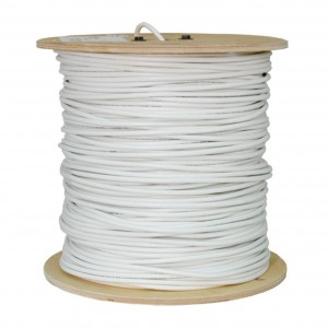 C&E® 1000 feet 18AWG Quad Shield PLENUM CCS RG6 60% Coaxial Cable.