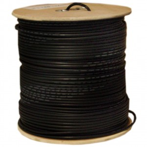 C&E® 1000 feet 18AWG Quad Shield CCS RG6 60% Coaxial Cable