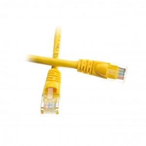 C&E® 1 feet cat6 AWG24 Snagless Molded Boot Ethernet Patch Cable Yellow
